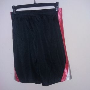 Nike black white and pink basketball shorts